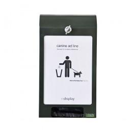 Canine adline Hundekot-Beutel-Spender grün mit A4 Display