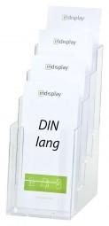 Prospekthalter 4x DIN lang (1/3 A4) freist. 4C110