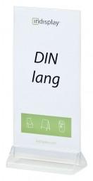 Menükartenhalter DIN lang PS/PVC V100
