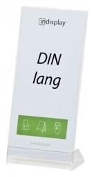 L-Aufsteller DIN lang PS/PVC L100