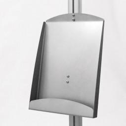 Zubehör dismo Stahlblechablage A4 für Ständersystem