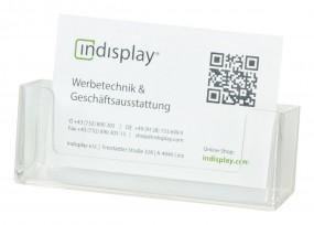 Visitenkartenhalter 1fach mit Clip CWBC93