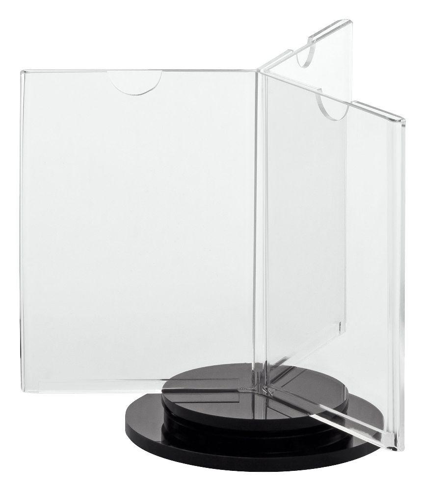 drehbarer tischaufsteller din a7 f r getr nkekarten und. Black Bedroom Furniture Sets. Home Design Ideas