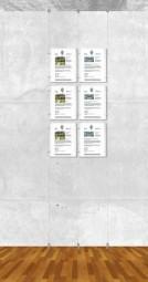 Seil-Display-System A4 hoch 2x3