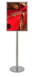 freistehender Plakatständer A2 doppelseitig Edelstahl