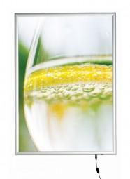 Leuchtrahmen slimsnap A1, LED, 19 mm flach, Klappprofile
