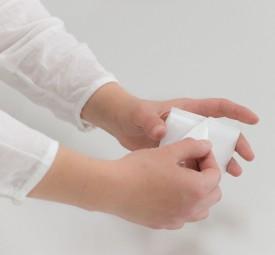 Klettbefestigung für Prospekthalter an Kundenstoppern