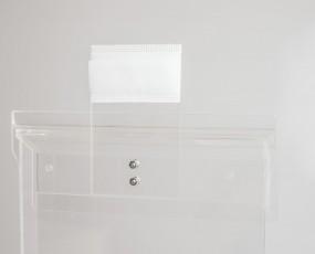 Befestigungset Prospektbox A4 für Kundenstopper