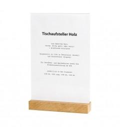Tischaufsteller Holz A4 Eiche geölt