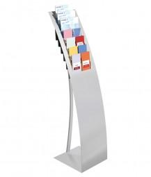 Prospektständer BOW mit 7 Fächern aus Metall