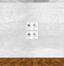 Seil-Display-System A3 quer 1x2