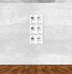 Seil-Display-System A3 quer 1x3