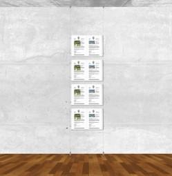 Seil-Display-System A3 quer 1x4