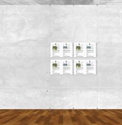 Seil-Display-System A3 quer 2x2
