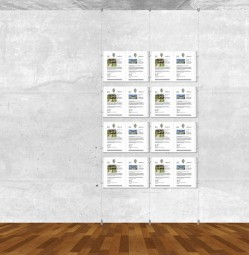 Seil-Display-System A3 quer 2x4