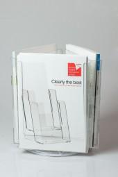 Tischprospektständer 3 x A4 drehbar CL-RS3223