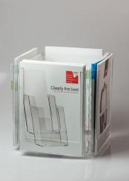 Tischprospektständer 4 x A4 drehbar CL-RS4223