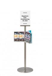 Q Prospektkarussell 12 x DL + Plakatdisplay A4