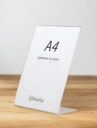 L-Aufsteller DIN A4 Acrylglas