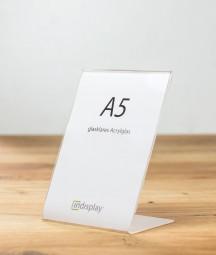 L-Aufsteller DIN A5 Acrylglas