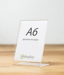 L-Aufsteller DIN A6 Acrylglas