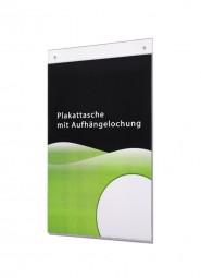 Plakattasche A4 hoch mit Aufhängelochung