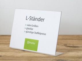 L-Ständer A3 quer PS glasklar