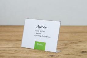 L-Ständer A5 quer PS glasklar