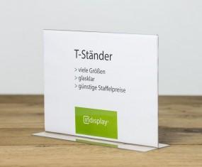 T-Ständer A4 quer PS glasklar