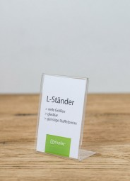 L-Preisaufsteller A7 hoch PS glasklar
