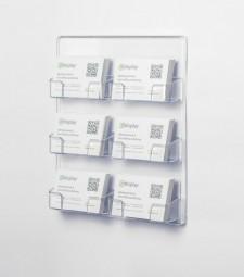 Visitenkartenhalter Wand 6-fach