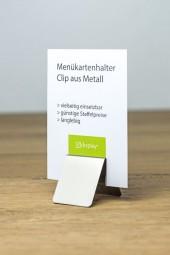 Menükartenhalter Clip Edelstahl 50 mm