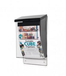 Prospektbox A5 hoch Acrylglas schwarz