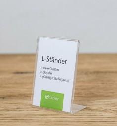 L-Preisaufsteller A9 hoch PS glasklar