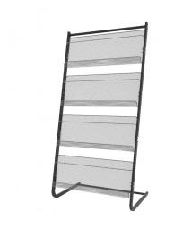 Prospektständer L4B mesh grau-silber