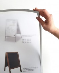 Schutzscheibe für Kundenstopper A2 Stahlrohr weiß PET Magnet