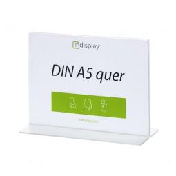 T-Aufsteller DIN A5 quer Acrylglas