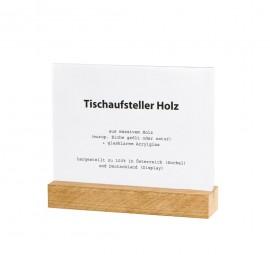 Tischaufsteller Holz A6 quer Eiche geölt