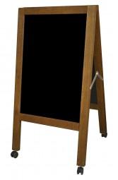 Kreidetafel-Aufsteller Holz Outdoor XL mit Rollen 118 x 65