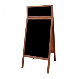 Kreidetafel-Aufsteller Holz Outdoor mit Schild 100+23 x 60