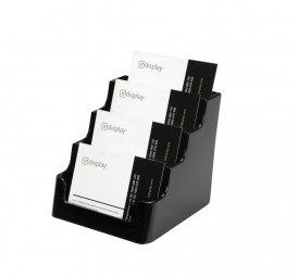 Visitenkartenhalter schwarz 4fach