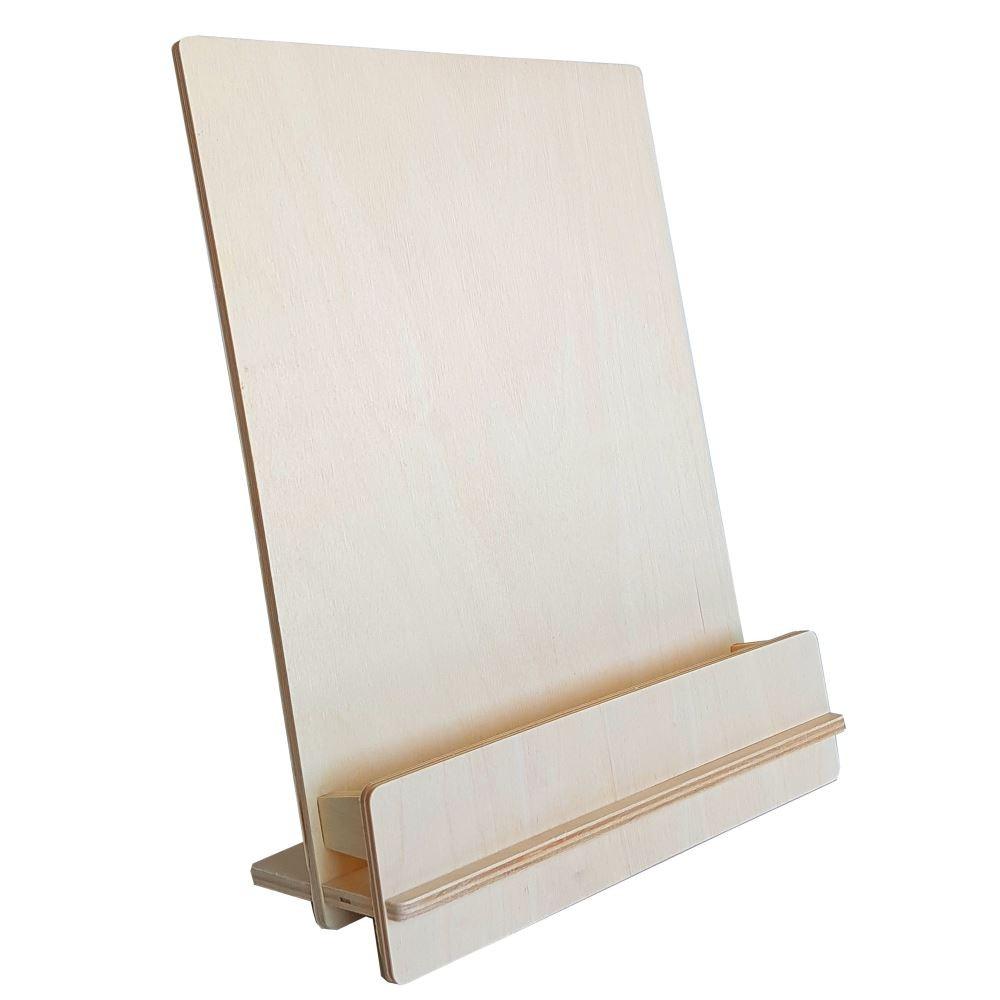 Holz-Tischprospekthalter WUDI A4 / 2 x DL