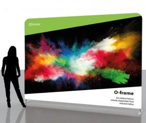 O-Frame Wall 292.2 x 228 komplett inkl. Druck beidseitig
