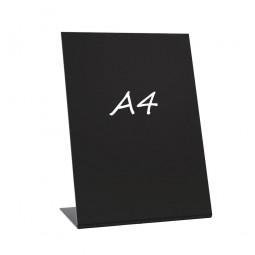 L-Ständer A4 hoch Acryl schwarz kreidebeschreibbar