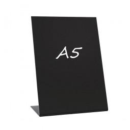 L-Ständer A5 hoch Acryl schwarz kreidebeschreibbar