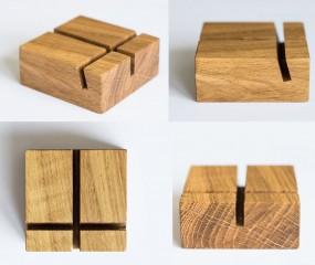 Werbe-Aufsteller Holzbloq für Tisch, Theke und Schaufenster - quadratisch, praktisch und schön