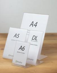 L-Aufsteller aus Acrylglas