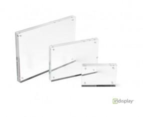 neu im Sortiment: Acrylglas-Magnetrahmen für Fotos, Logos und Preisschilder